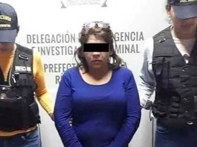 A Mexican woman with a hot temper got into trouble for allegedly stabbing her husband after finding pictures on his phone.
