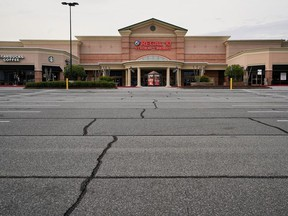 A closed Regal movie theater is seen days before the phased reopening of businesses and restaurants from coronavirus disease (COVID-19) restrictions in Atlanta, Georgia, U.S. April 22, 2020.