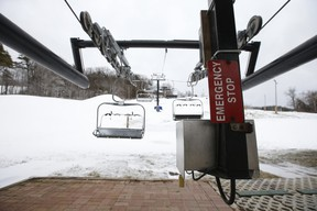 The seven lifts and 17 slopes at Glen Eden in Milton, along with the surrounding Kelso Conservation Area, were shut down because of COVID restrictions on Friday, Jan. 1, 2021. Ski and snowboard resorts and tubing centres across Ontario were all shut down until further notice when the latest province-wide COVID-19 lockdown kicked in on Boxing Day.