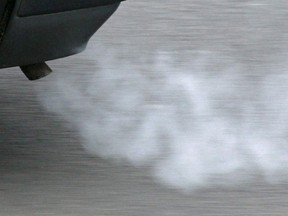 This Jan. 26, 2009 file photo shows the exhaust pipe of a car in Erfurt, Germany.