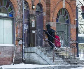 A respite shelter at 21 Park Rd. in downtown Toronto, Ont. on Thursday, Jan. 28, 2021.