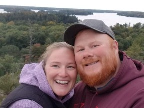 Steve Catt, 37, (right) and his wife, Heather Stoneman, 39, are hoping Mount Sinai Hospital will allow partners to attend OBGYN appointments and births during COVID-19.