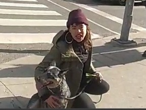 Investigators need help identifying this woman, who is suspected of a hate-motivated assault Yonge-Dundas Square on Nov. 14.