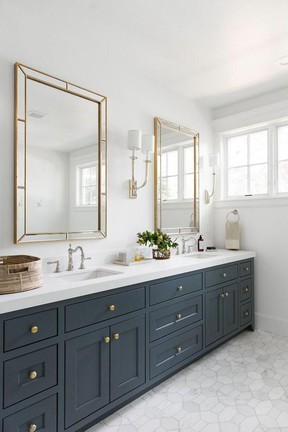 A well-dressed vanity should immediately suggest order and cleanliness.  SUPPLIED