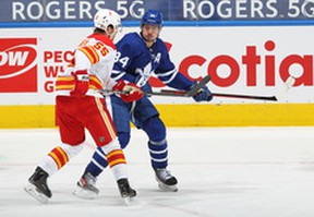 Maple Leafs centre Auston Matthews was held off the scoresheet during Toronto's 3-0 loss to the Calgary Flames on Monday night.
