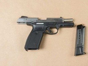 Peel Regional Police say officers came across an impaired and sleeping motorist who had a handgun in his vehicle.