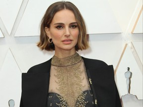 Natalie Portman arrives at the 92nd Academy Awards held at the Dolby Theatre in Los Angeles, Calif., Feb. 9, 2020.