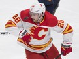 Calgary Flames forward Elias Lindholm looks for the puck in a blowout loss to the Oilers on Saturday. GREG SOUTHAM/POSTMEDIA NETWORK