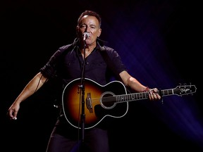 Bruce Springsteen performs during the closing ceremony for the Invictus Games in Toronto September 30, 2017.