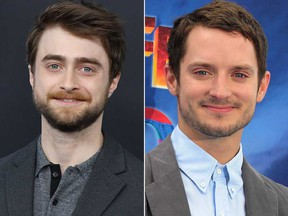 Daniel Radcliffe, left, and Elijah Wood.