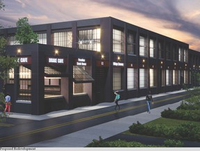 The original factory will be transformed into modern, multi-generational  live-work condos that will feature ground floor workspaces with roll-up doors opening to an interior courtyard. SUPPLIED