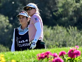Brooke Henderson of Canada and her sister and caddie Brittany Henderson will tee it up at the  LPGA's ANA Inspiration beginning Thursday.