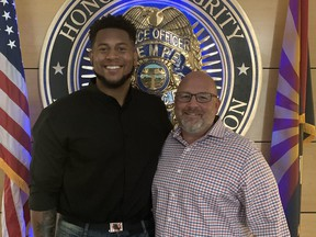 Justin Herron and Murry Rogers lauded by the Tempe Police after coming to the aid of a senior who was attacked in a park.