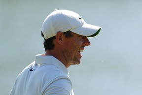 Rory McIlroy looks on during a practice round on Wednesday for The Players Championship.