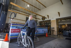 Ira Kargel, founder/co-owner of Gears Bike Shop at the Port Credit location in Mississauga, Ont. on Tuesday March 30, 2021.