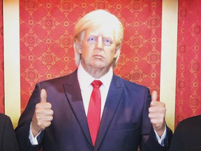 A wax likeness of ex-US President Donald Trump had to be removed from an exhibit due to excess punching from visitors.