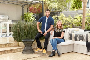 Designer Sarah Keenleyside and contractor Brian McCourt are back for a fourth season of Backyard Builds, appearing in back-to-back episodes Thursdays at 9:00 and 9:30 p.m. EST on HGTV. IMAGE COURTESY OF HGTV
