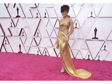 LOS ANGELES, CALIFORNIA – APRIL 25: Andra Day attends the 93rd Annual Academy Awards at Union Station on April 25, 2021 in Los Angeles, California.
