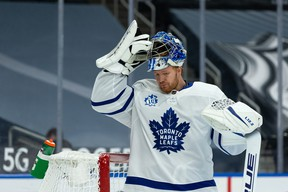 Toronto Maple Leafs' goaltender Frederik Andersen received some positive news from his followup appointment for a lingering lower-body injury on Thursday.
