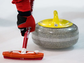Curling brush and sweeping technique tests with the World Curling Federation and National Research Council of Canada at the North Grenville Curling Club in Kemptville, Ontario on Wednesday May 25, 2016.