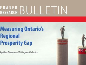 An image from the report, 'Measuring Ontario's Regional Prosperity Gap'