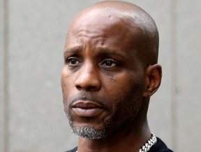 Earl Simmons, also known as the rapper DMX, exits the U.S. Federal Court in Manhattan following a hearing regarding income tax evasion charges in New York City, July 17, 2017.