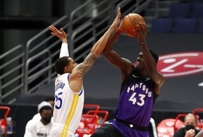 Toronto Raptors forward Pascal Siakam had one of his best games of the season against Golden State in a blowout win.