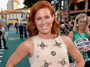 """Actress Elisa Donovan attends the premiere of Summit Entertainment's """"Draft Day"""" at Regency Bruin Theatre on April 7, 2014 in Los Angeles, Calif."""