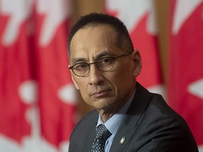 Deputy Chief Public Health Officer Howard Njoo is seen during a news conference Thursday January 14, 2021 in Ottawa.   during a news conference Thursday January 14, 2021 in Ottawa. THE CANADIAN PRESS/Adrian Wyld ORG XMIT: 20210114ajw109