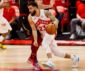 Fred VanVleet and the Toronto Raptors meet the Brooklyn Nets on Tuesday night. USA TODAY SPORTS