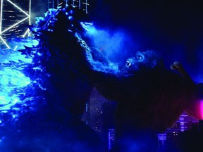 Godzilla slugs it out with King Kong in Godzilla vs. Kong.