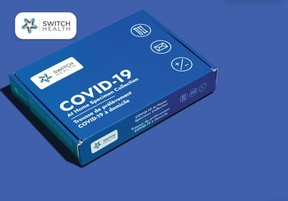 A Switch Health COVID test.