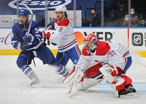 Auston Matthews had eight shots on Habs goalie Carey Price during Game 1, but came empty on the scoresheet. He also rang one off the post.