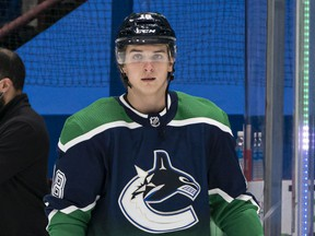 Canucks winger Jake Virtanen has been placed on leave by the NHL club.