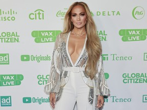 In this image released on May 2, Jennifer Lopez attends Global Citizen VAX LIVE: The Concert To Reunite The World.
