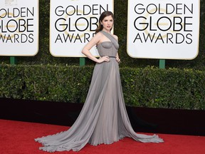 Anna Kendrick arrives at the 74th annual Golden Globe Awards, January 8, 2017, at the Beverly Hilton Hotel in Beverly Hills, California