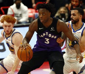 OG Anunoby and the Raptors will take on the Los Angeles Clippers Tuesday night. USA TODAY SPORTS