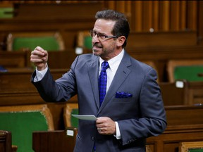 Bloc Quebecois leader Yves-Francois Blanchet speaks during Question Period in the House of Commons on Parliament Hill in Ottawa May 5, 2021.