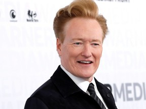 Comedian Conan O'Brien poses as he arrives at the WarnerMedia Upfront event in New York City, New York, May 15, 2019.