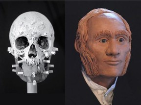 A facial reconstruction of Franklin expedition sailor John Gregory, whose remains were found on King William Island in Nunavut, is shown in a handout photo.