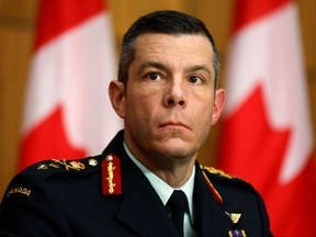 Vice-President of Logistics and Operations at the Public Health Agency of Canada Major General Dany Fortin attends a news conference, as efforts continue to help slow the spread of COVID-19 in Ottawa, Dec. 7, 2020.