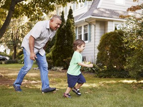 A grandfather feels some resentment towards his daughter for raising a child as a single parent, while expecting him to support them.