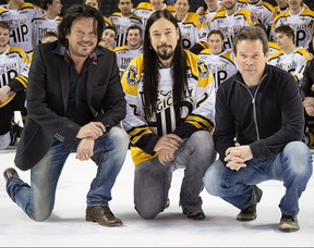 Tragically Hip members, from left, Paul Langlois, Rob Baker and Gord Sinclair. The 50th Juno Awards, set for June 6, will feature a very special performance by the Tragically Hip with singer Feist.