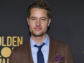 Justin Hartley attends the HFPA and THR Golden Globe Ambassador Party at Catch LA on Nov. 14, 2019 in West Hollywood, Calif.