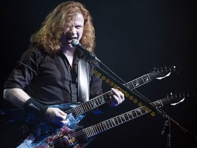 Dave Mustaine of Megadeth headlines the Gigantour 2012 heavy metal show at the Shaw Conference Centre, in Edmonton, Alberta, on Feb. 17, 2012.