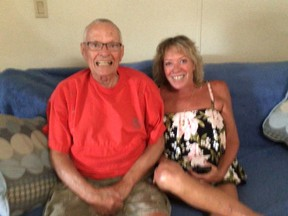 Robin St. Jules and her 84-year-old dad, Bob Leishman.