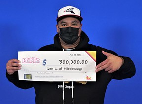 Ivan Limon of Mississauga with his $300,000 lotto win.