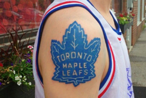 According to a new study, the Leafs are winners in the tattoo parlour.