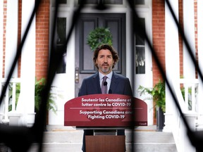 Prime Minister Justin Trudeau attends a news conference at Rideau Cottage in Ottawa, June 25, 2021.