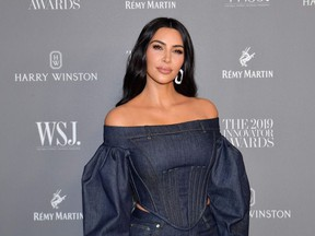 In this file photo taken on November 6, 2019 US media personality Kim Kardashian West attends the WSJ Magazine 2019 Innovator Awards at MOMA in New York City.